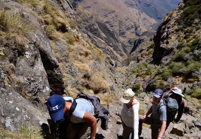 Mountain Climbing In South Africa