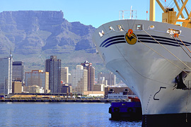 Cape Town seen from the Harbour