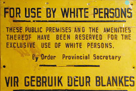 Old Apartheid Sign in the District Six Museum
