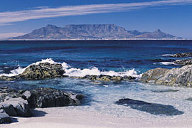 Table Mountain as seen from Bloubergstrand