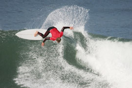 Surfing in Jeffreys Bay, Eastern Cape