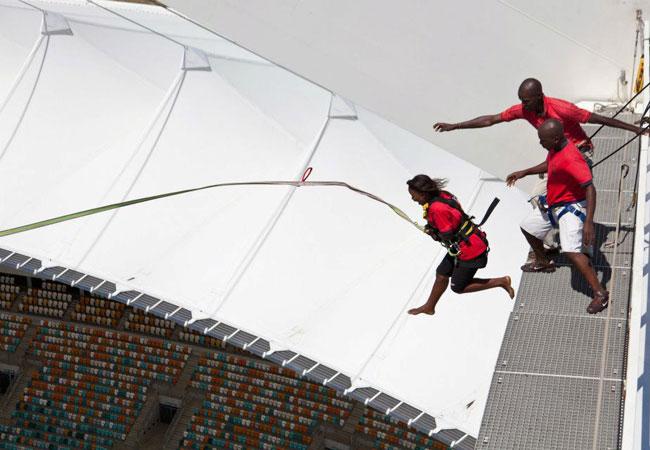 Big Swing at Moses Mabhida Stadium