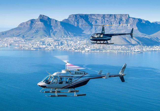 Helicopter Flip Over Cape Town