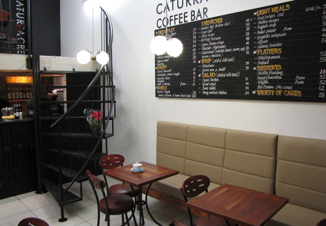 Caturra coffee bar for Things in a coffee bar