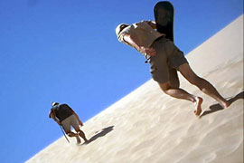 Sand boarding in the Western Cape