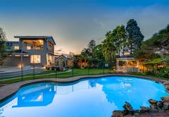 The stunning pool/ garden
