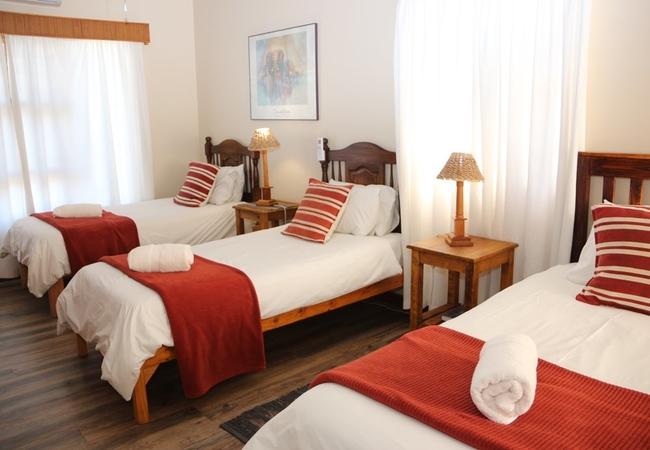 Kudu room 2 with 3 single beds inside