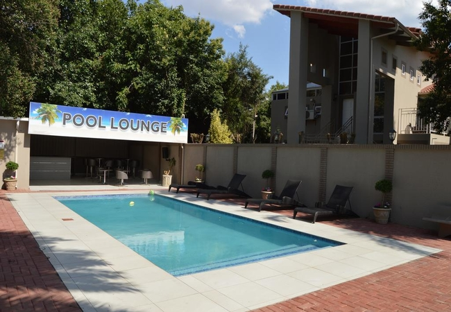 The pool lounge