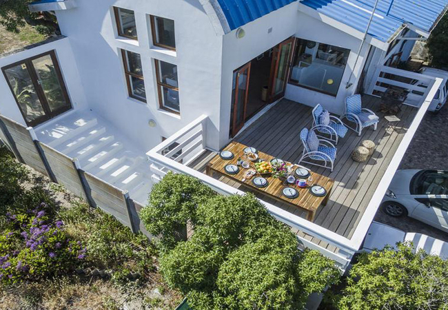 Deck with sea view