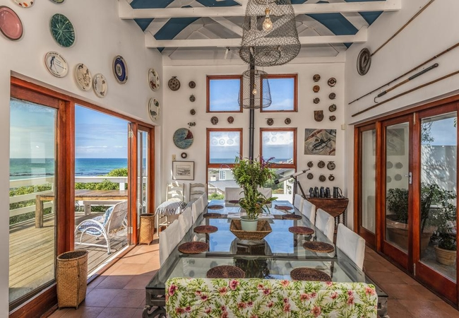 Dining table with seaview