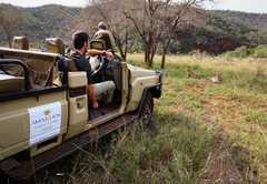 On a Game Drive at AmaKhosi Safari Lodge