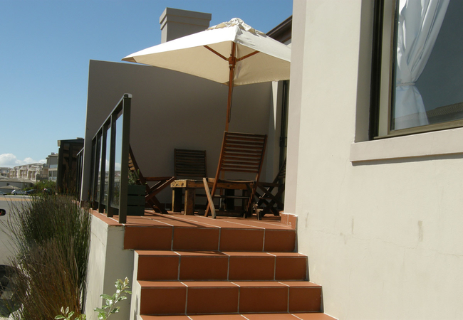 Veranda with open braai