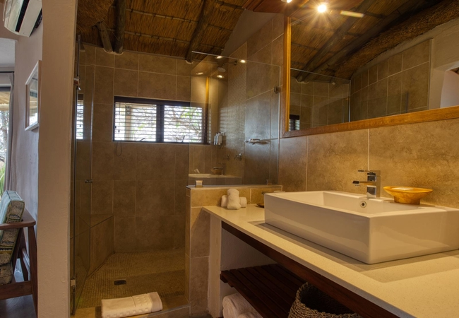 Garden view suite shower