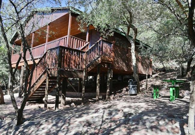 6 Sleeper Log Cabin (in the ravine)
