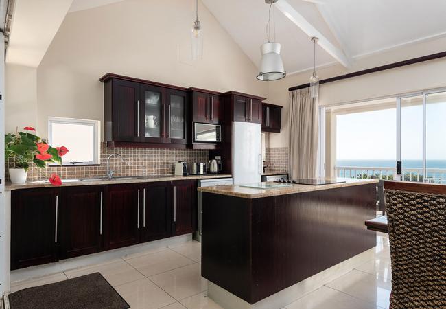 Kitchen & sea views