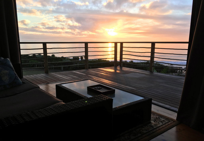 Luxury room sunrise view