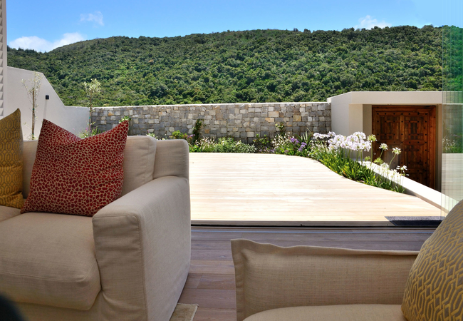 Private front deck