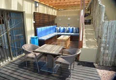 Blue Marlin lounge and kitchen/dining area