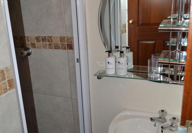 Garden view ensuite bathroom