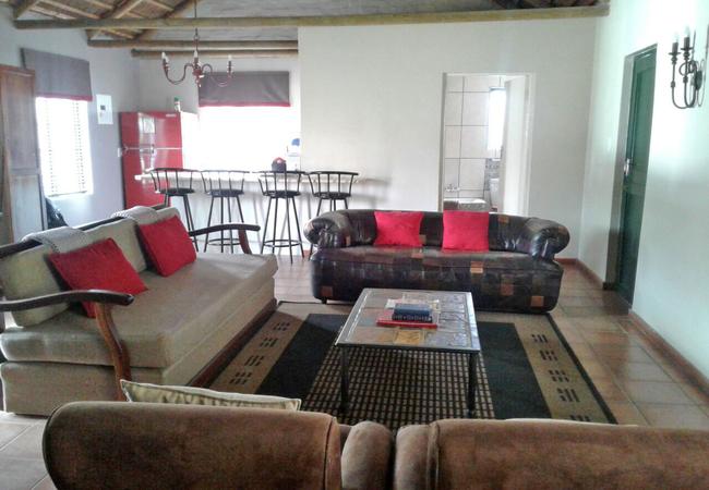 Fivaz cottage living area with inside braai