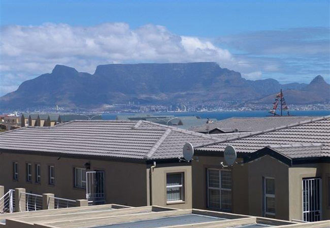 Views of Table Mountain from balcony