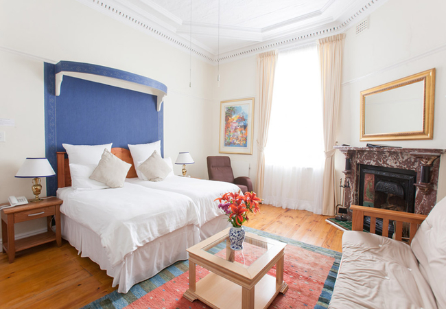 Select double rooms