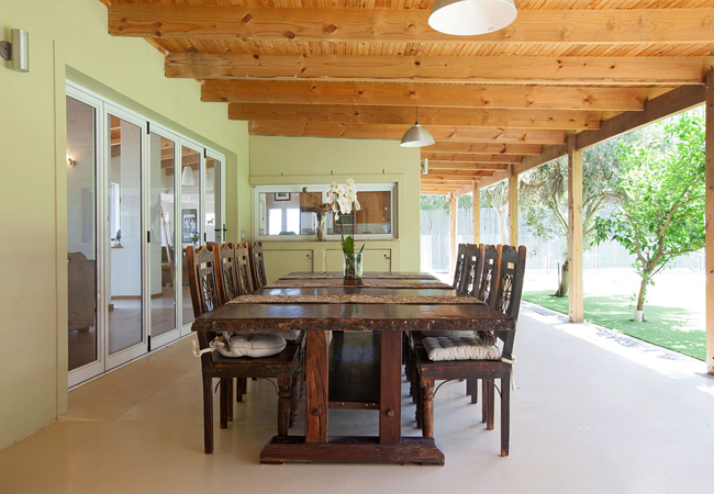 patio with 12 seater