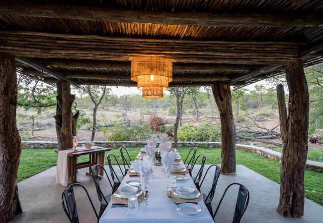 Dining Area Overlooking Waterhole