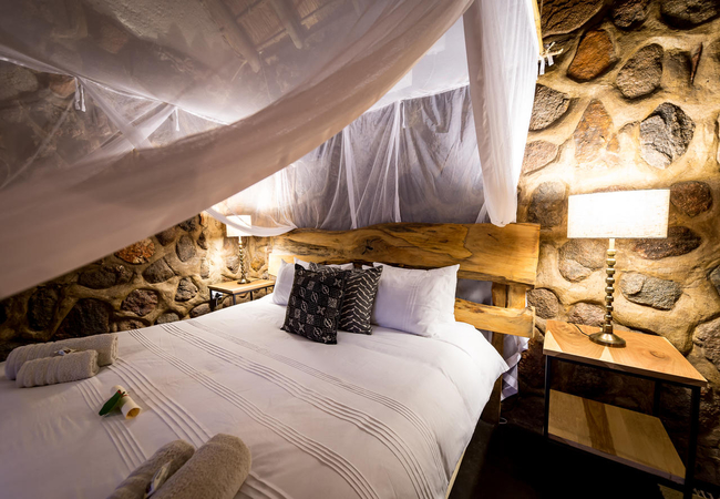 Double Bed in Steenbok Chalet