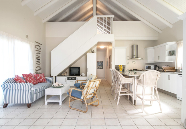 Living area with loft