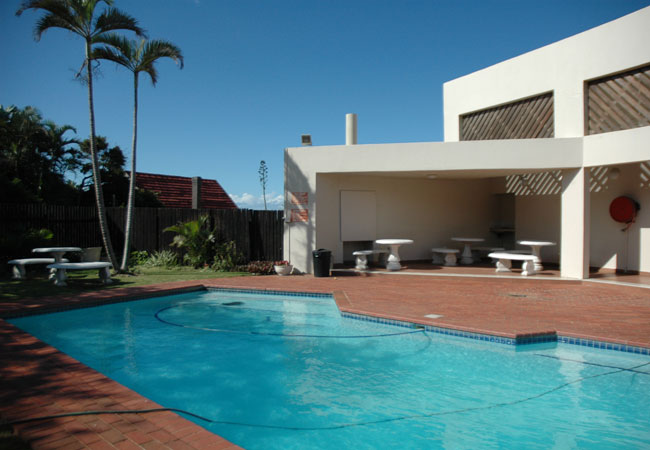 Complex exterior and pool