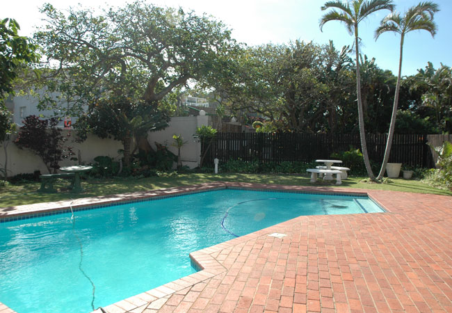 Complex pool and garden