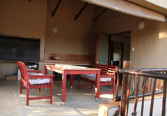 Deck and barbecue area