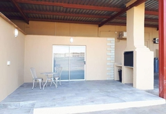 Hide away patio and braai