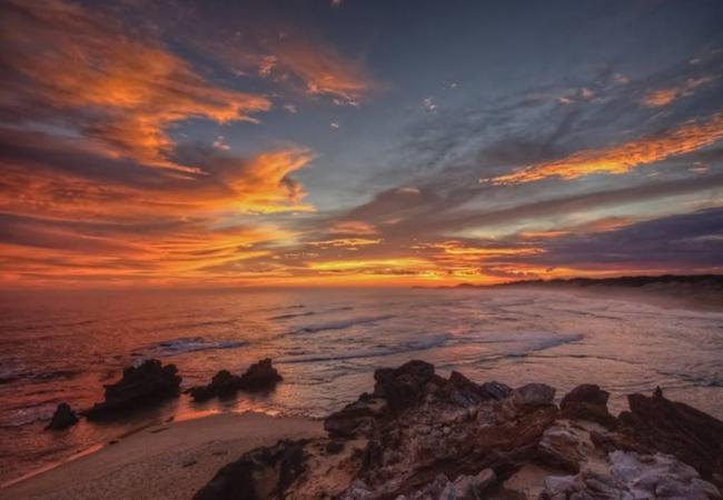Sunset at Kenton On Sea