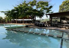 Swimming pool, Restaurant