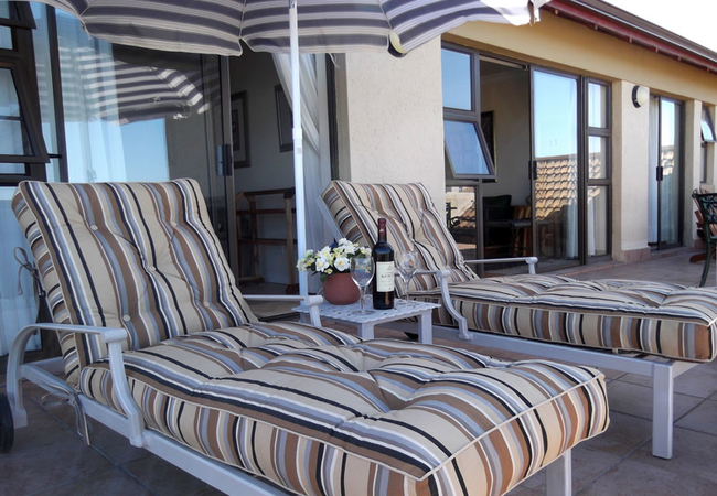 Loungers on the balcony