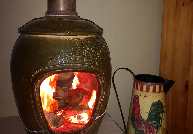 Fireplace inside