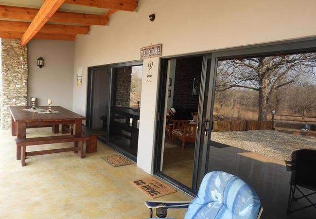 Porch dining area
