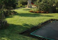 Trampoline in the garden