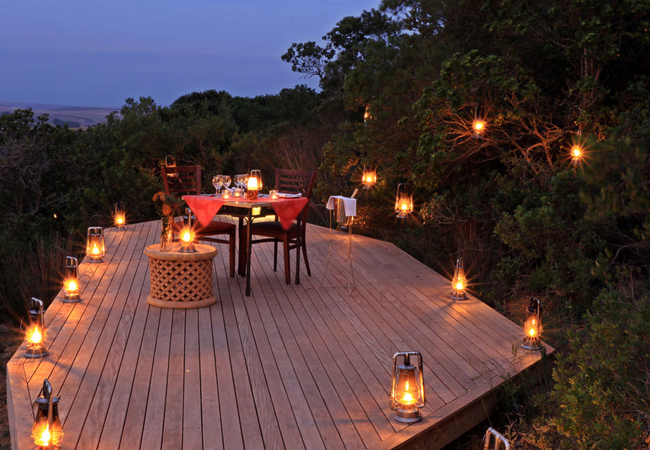 Private romantic dining