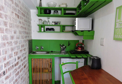 1B Studio kitchenette