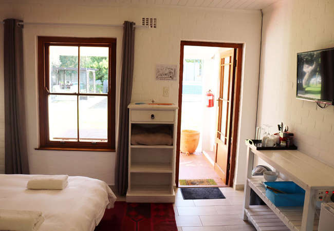 Semi self-catering room with a pool view
