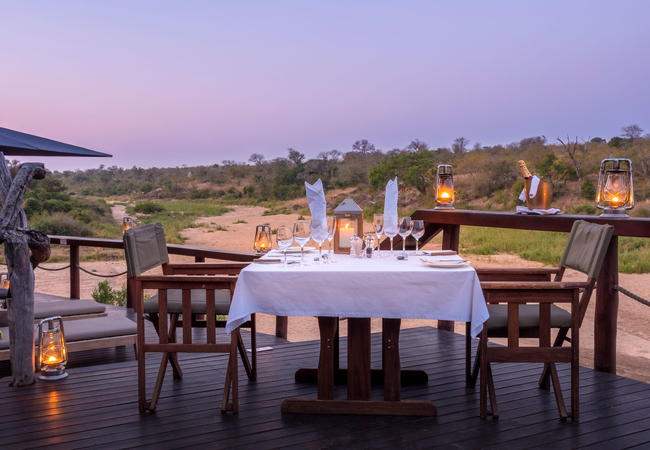 Outdoor Couples Dining