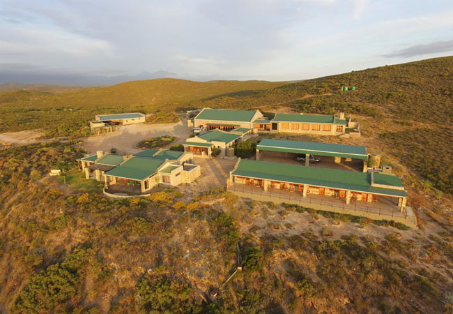 The venue and surrounding accommodation.