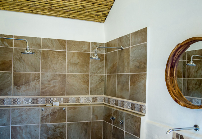 Double sided shower