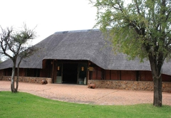 Thatched stone open plan chalets