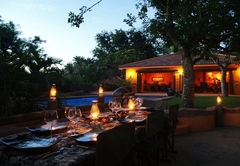 Outside dinner area/boma