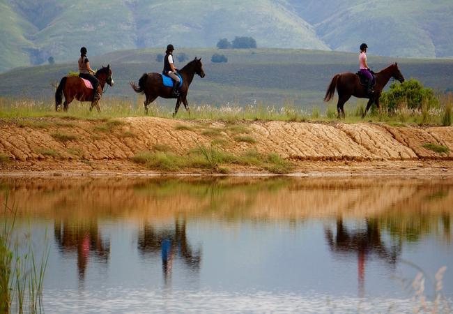 Horse riding tour of Kwetu Guest Farm