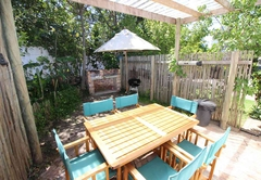Self Catering Unit private Patio and barbecue facilities